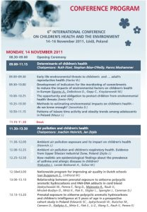 Inches Activities - Scientific programme Lodz 1
