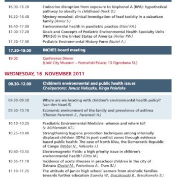 Inches Activities - Scientific programme Lodz 4